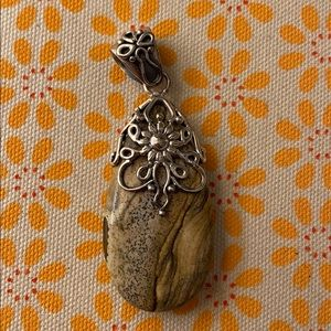 Jewelry - Vintage Stone and silver necklace pendant